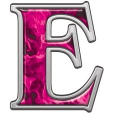 PINK Flame Letters & Numbers