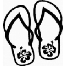 Flip Flop Flower Decals