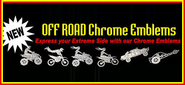 OFF ROAD Chrome Emblem Banner