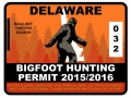 BIGFOOT HUNTING PERMIT STICKERS