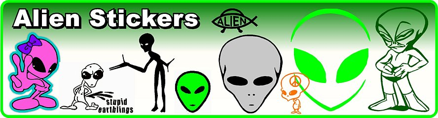 Alien Decals and Stickers
