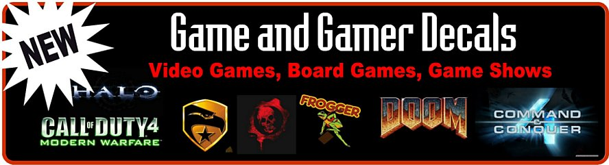 Game Gamer Logos Decals Stickers