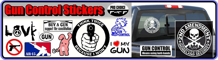 Gun Control Decals and Stickers