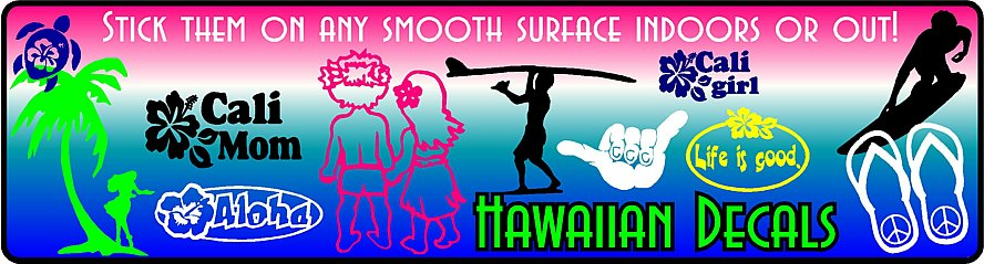 Hawaiian Stickers & Decals