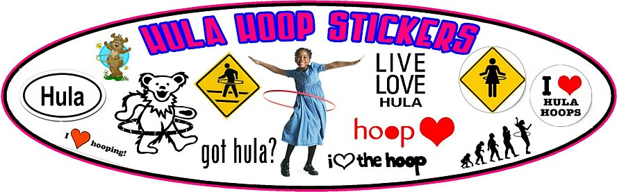 Hula Hoop Decals and Stickers