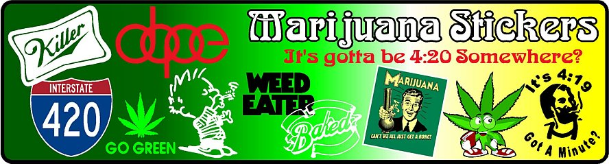 Marijuana Decals and Stickers