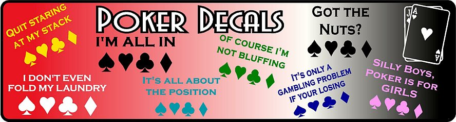 Poker Decals